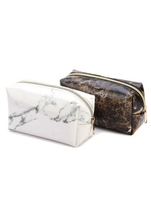 Marble Pattern Pencil Case 1pc