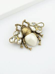 White Bee Brooch