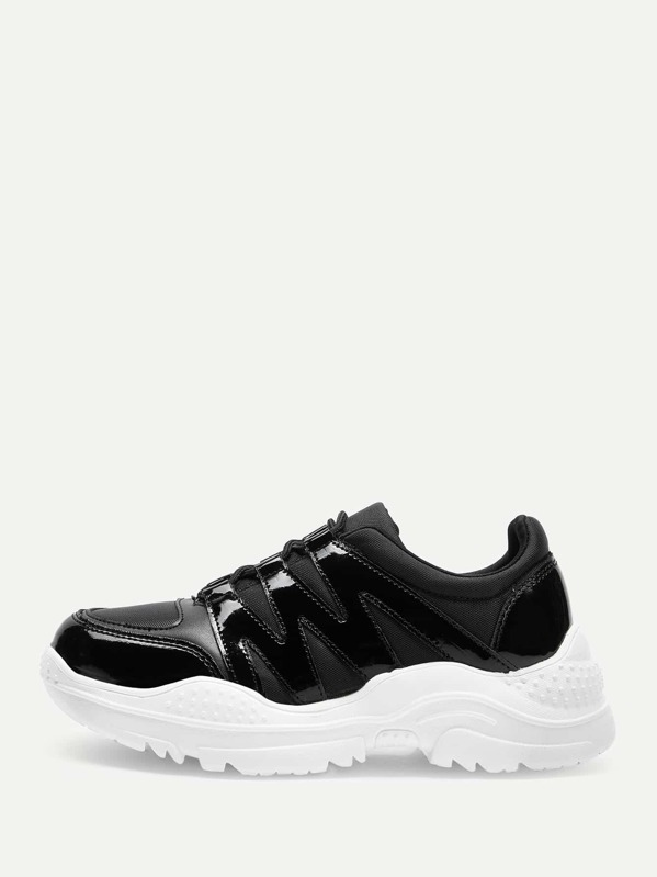 a616f40881 Lace-up Chunky Sole Sneakers | SHEIN