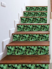 Leaf Pattern Stairs Sticker 1pc