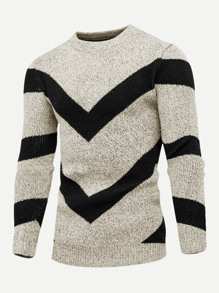 Men Geometric Print Jumper
