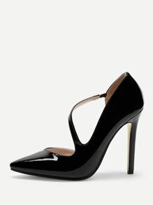 Solid Point Toe Stiletto Heels