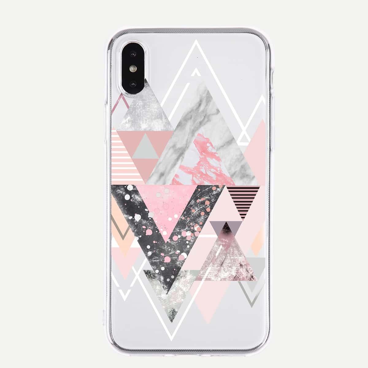 iPhone Hülle mit Dreieck Muster