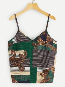 Tribal Print Cami Top