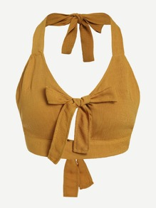 Knot Detail Halter Top