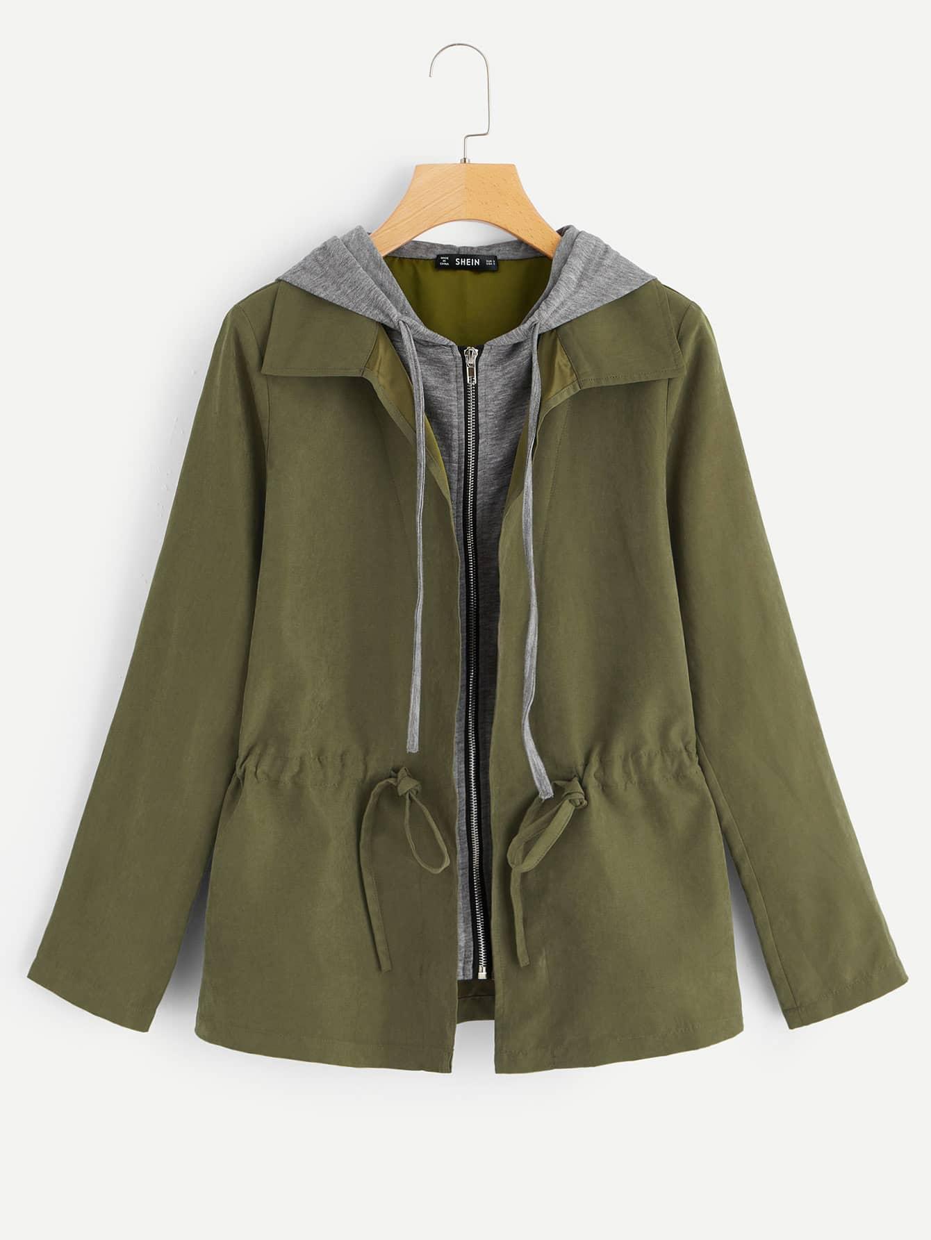 2в1 куртка с контрастным капюшоном thumbnail