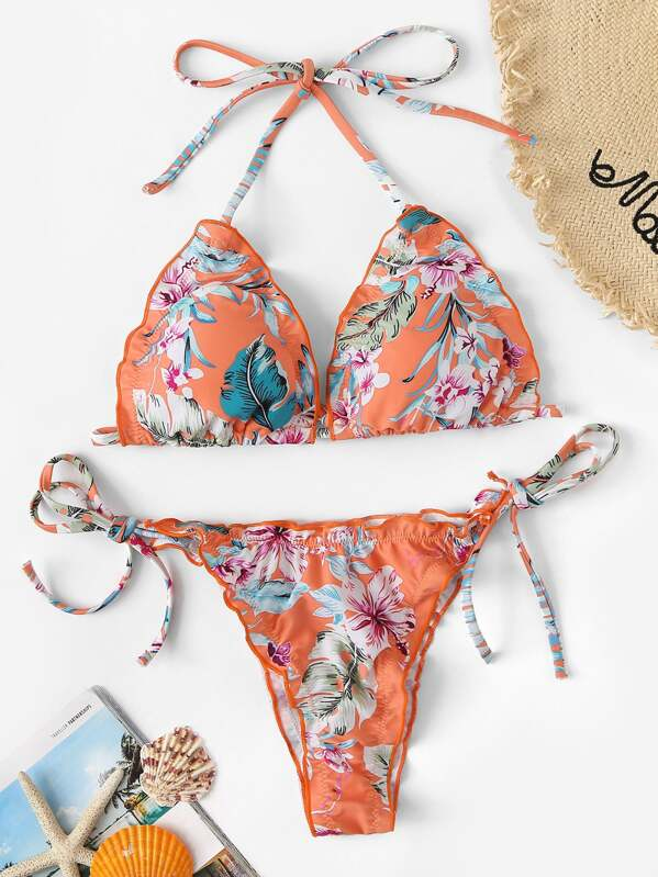 9506c9468e Cheap Random Tropical Lettuce Trim Low Rise Bikini for sale Australia    SHEIN
