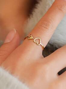 Heart & Arrow Detail Ring 1pc