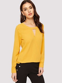 Cut Out Front Wrap Top