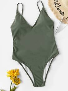 Knot Low Back One Piece Swimsuit