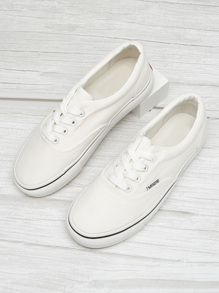 Lace-up Low Top Canvas Sneakers