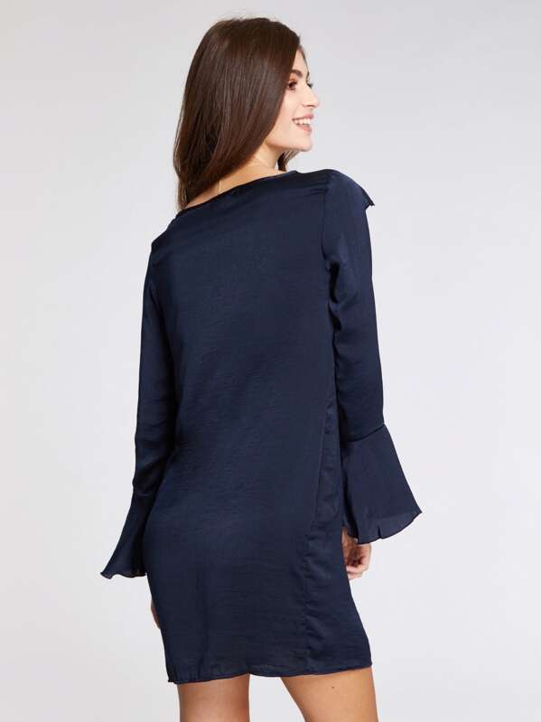 087bee81 Asymmetric Frill Tunic Dress   SHEIN UK