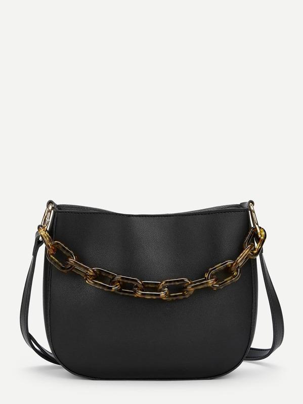 b013abfa22 Chain Decor PU Crossbody Bag