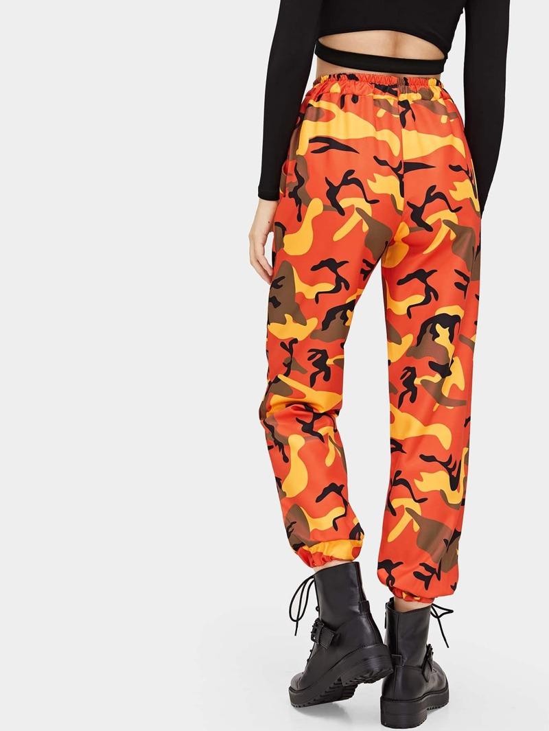 Camouflage Et La Taille Cordon Avec Pantalon À Imprimé g7v6yIbfY
