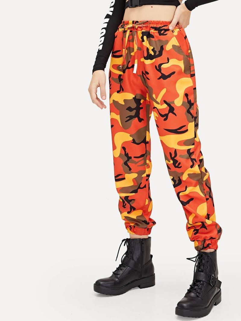 Camouflage La Imprimé Avec Cordon À Et Pantalon Taille 4R35LjqcA