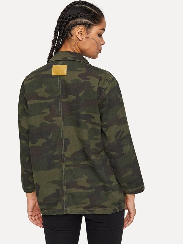 Jean Motif Et Avec Camouflage Veste En Poche fYg6yb7v