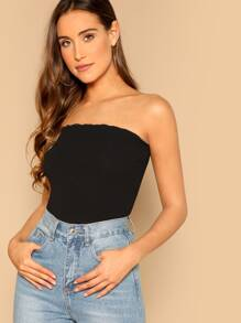 Ribbed Knit Crop Tube Top