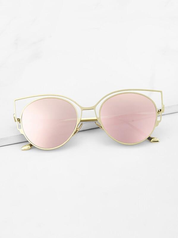 4ecf438cf7 Flat Lens Cat Eye Sunglasses | SHEIN