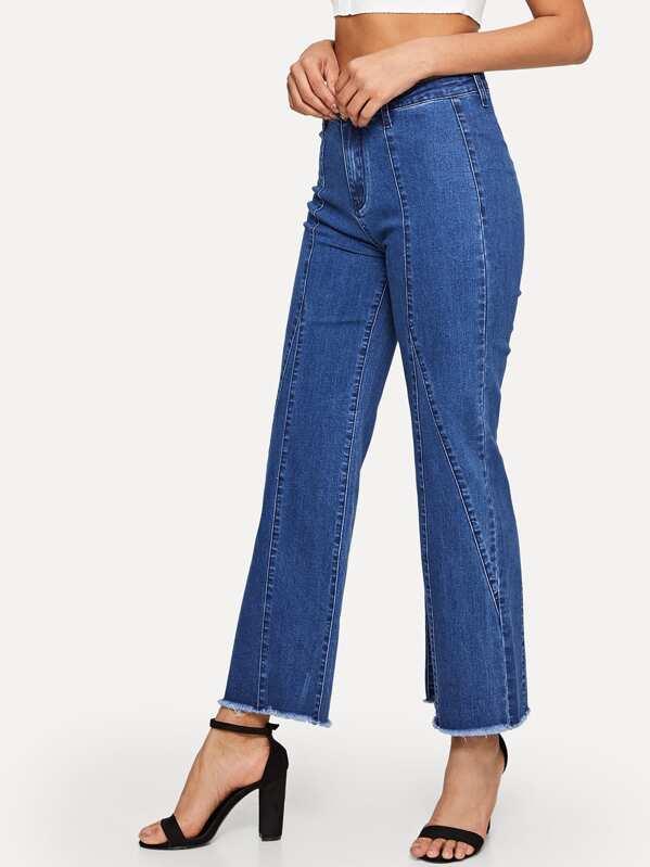 6782eda9a6 Straight Leg Raw Hem Jeans