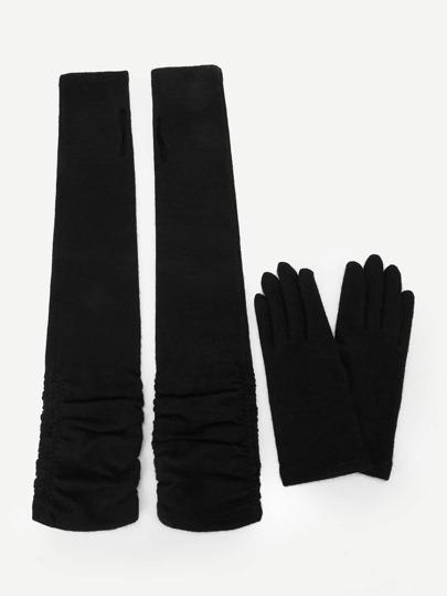 8915ba77d7bba Sleeve Fingerless Gloves And Full Finger Gloves 4pcs