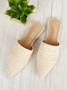 Solid Straw Flats