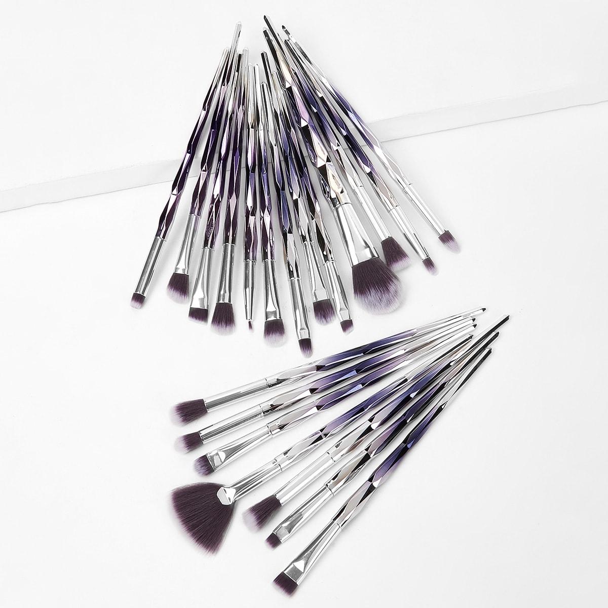 Кисть для макияжа с градиентной ручкой 20 шт.
