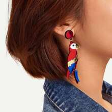 INOpets.com Anything for Pets Parents & Their Pets Bird Shaped Drop Earrings 1pair