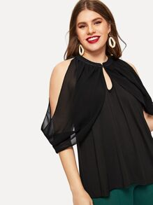Plus Open Shoulder Blouse