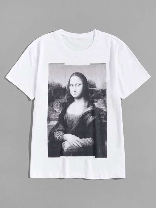 0c24f371c Men Mona Lisa Print Tee   SHEIN