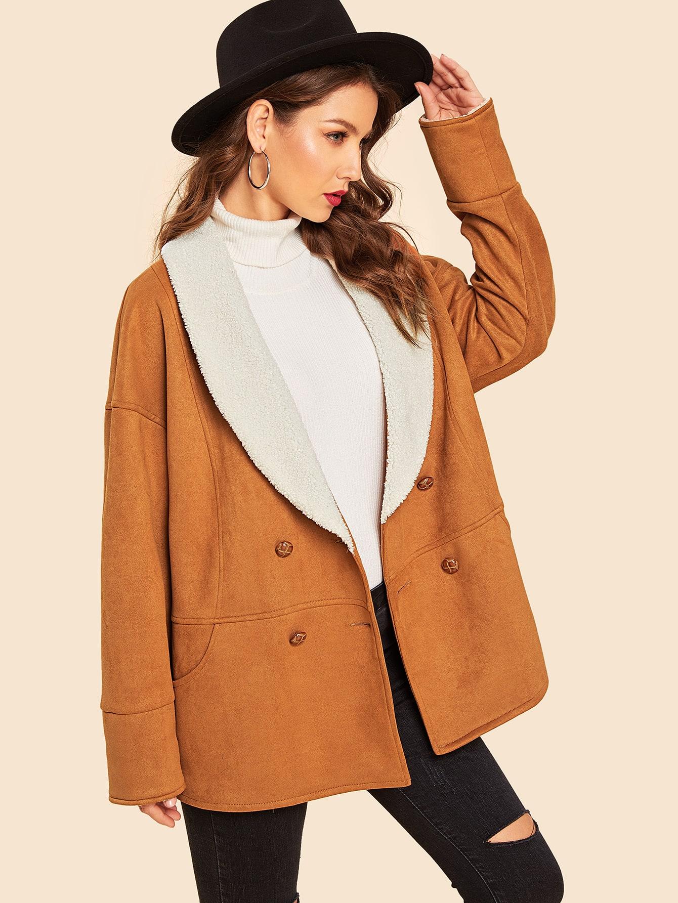 60s пальто с контрастным воротником thumbnail
