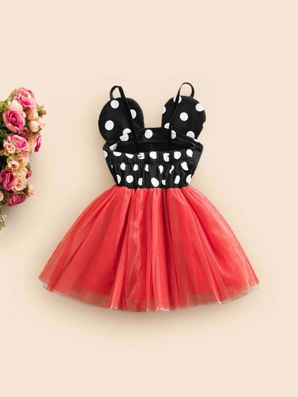 af18df42af Toddler Girls Polka Dot Tutu Cami Dress | SHEIN UK