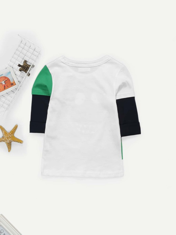1fe542160 Toddler Boys Crocodile Print Knit Tee | SHEIN