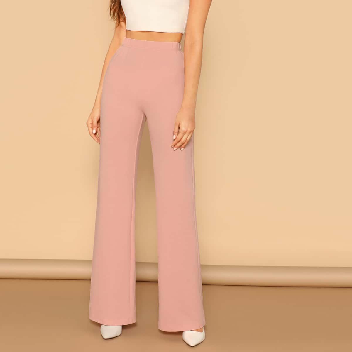 Прямые брюки с эластичной талией