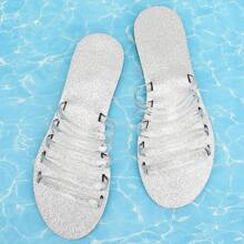 Transparent Hollow Out Slippers