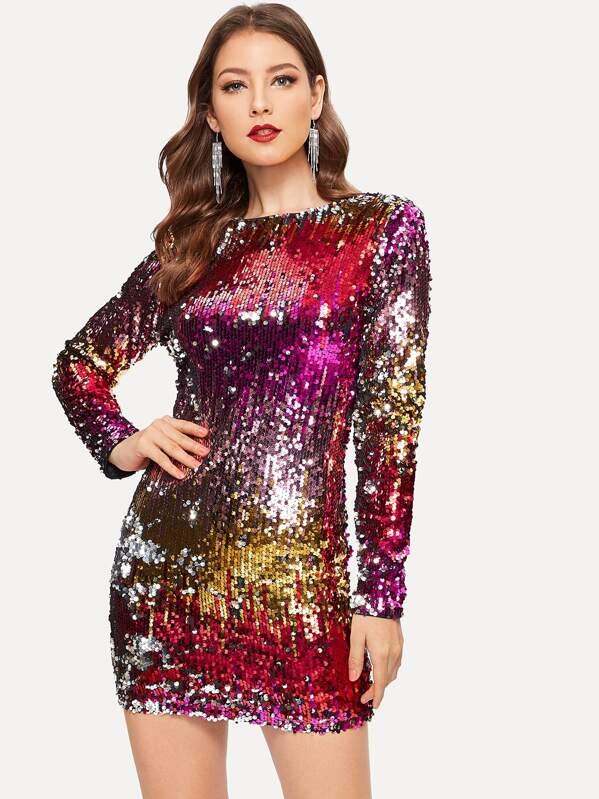 4d07f21ffd Iridescent Sequin Dress