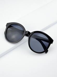 Black Oversized Round Sunglasses