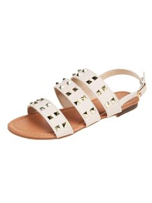 Studded Decor Slingback Sandals