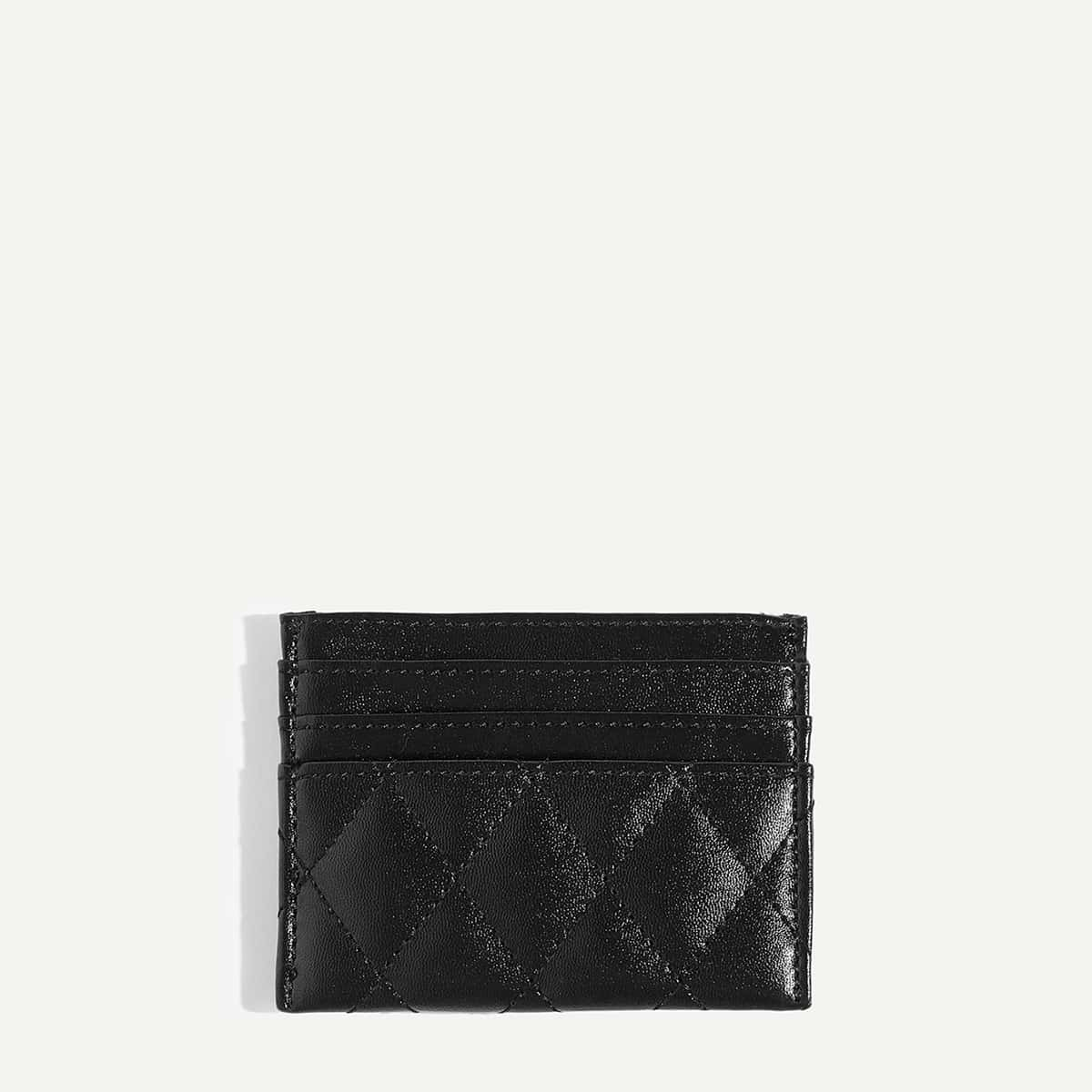 Quilted Design PU Card Pouch