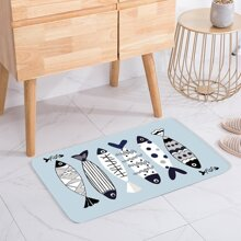 INOpets.com Anything for Pets Parents & Their Pets Fish Print Floor Mat
