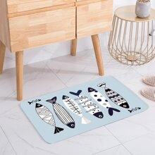 Fish Print Floor Mat