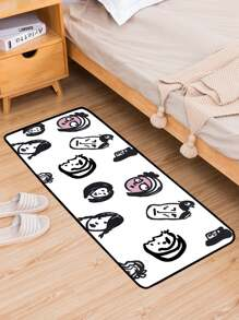 Comic Pattern Print Floor Mat