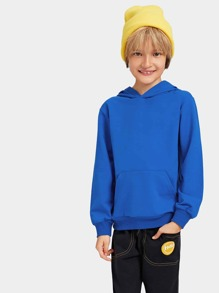 Toddler Boys Plain Hooded Sweatshirt