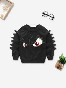 Toddler Boys Eye Print Sweatshirt
