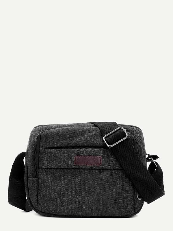 06ba99e5e2 Men Pocket Front Canvas Crossbody Bag | SHEIN