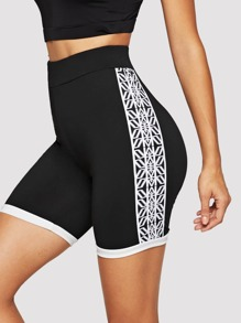 Geo Print Cycling Shorts