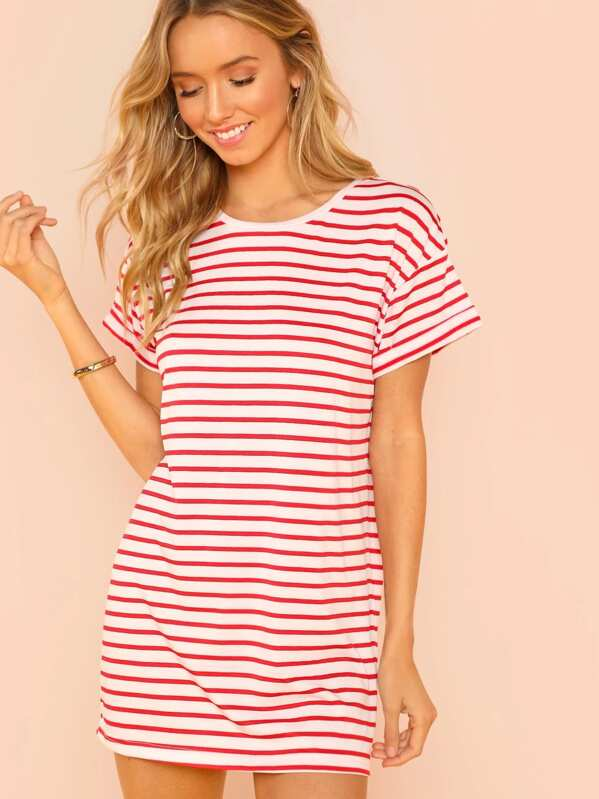 5ecc51b232 Cheap Striped Print T-shirt Dress for sale Australia