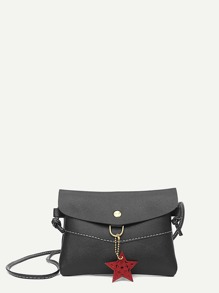 Star Decor PU Crossbody Bag