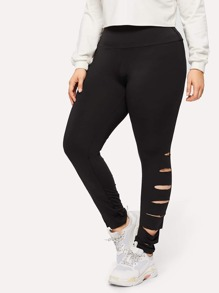 Plus Cut Out Skinny Pants