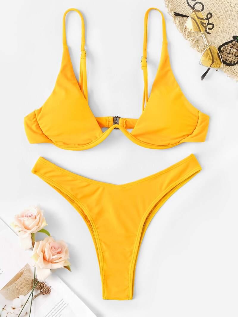 Set Bikini Cortado Alto Aro Con Top De IYgvyf6b7m
