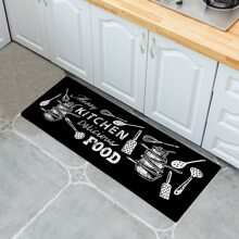 Kitchenware Print Floor Mat
